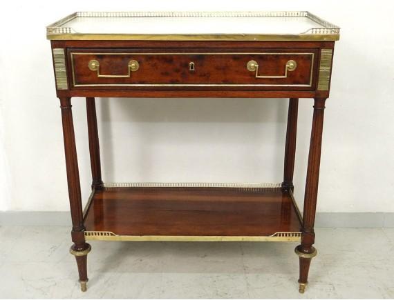 Small console Louis XVI mahogany marble white gilt bronze XIXth ...