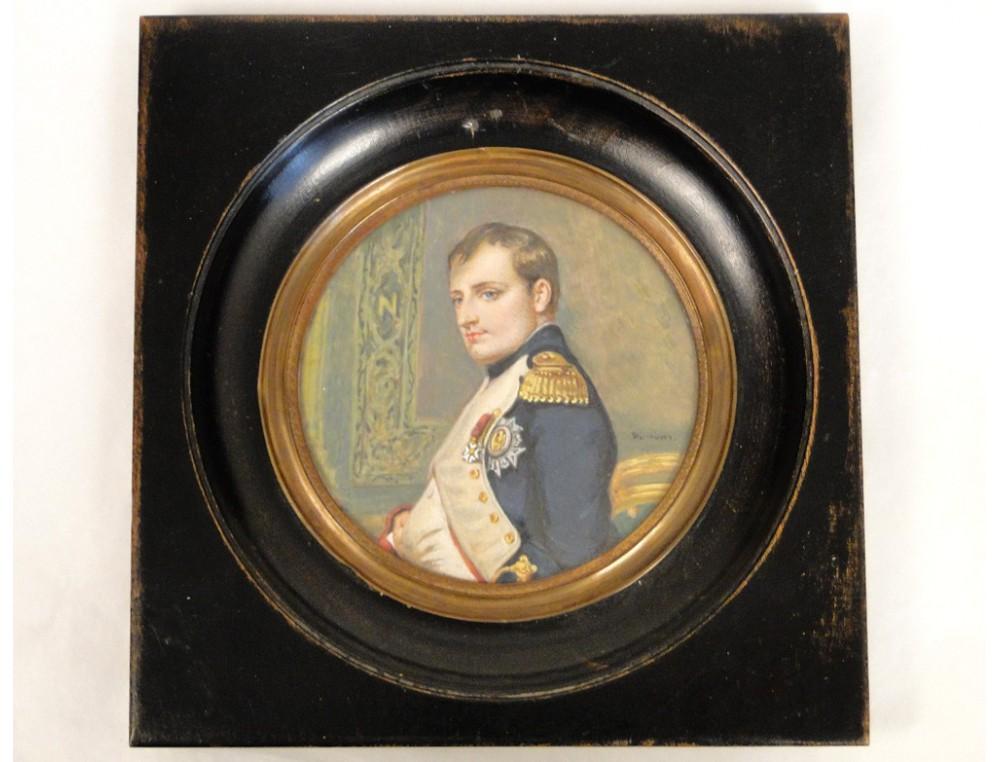Napoleon First Portrait Miniature Painting Dumont Nineteenth