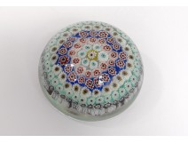 Sulfur paperweight crystal Baccarat millefiori flowers paperweight XIXth