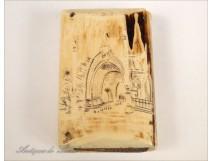 Matchbox ivory of Dieppe, nineteenth century