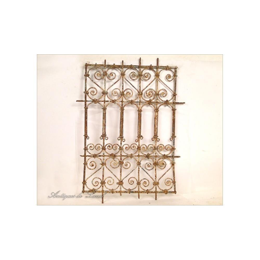 Grille de fen tre marocaine en fer forg peint xxe ebay for Fenetre en fer forge tunisie