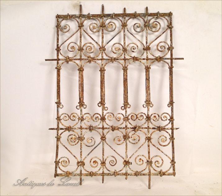 Grille de fen tre marocaine en fer forg peint xxe ebay for Fenetre fer forge