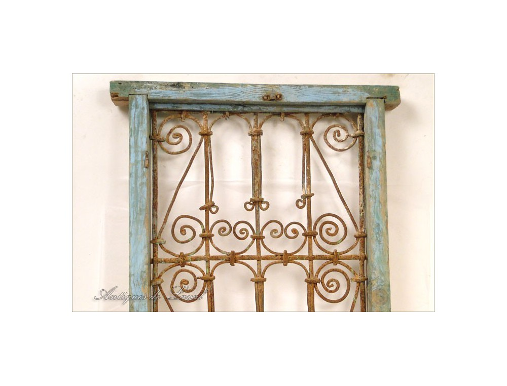 Window Grille Morocco Wrought Iron And Painted Wood