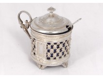Moutardier silver solid Minerva goldsmith Berthier Napoleon III silver XIXth